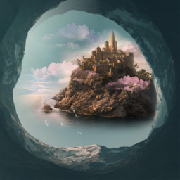 freetoedit fantasy magical castle mirrored
