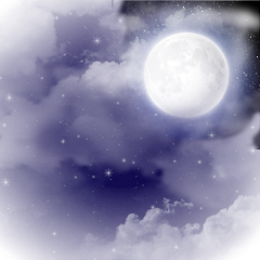 ftestickers background nightsky moon clouds freetoedit