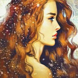 freetoedit beautiful multicolored painting women ircpaintit