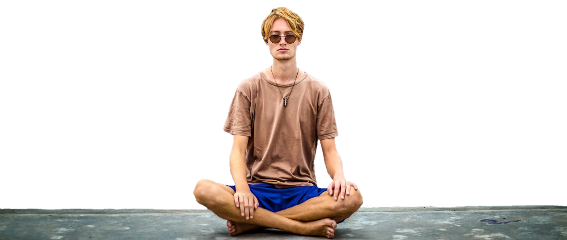 guy meditation shirt glasses sitting freetoedit
