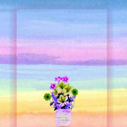 freetoedit watercolor flower vaseofflowers minimaledit