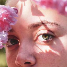 freetoedit realpeople eyescolor flowers sun pcspringselfie