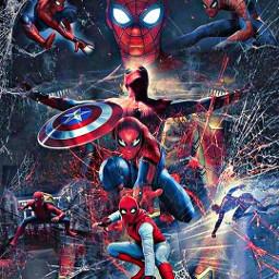 captainamericacivilwar spidermanhomecoming spiderman ironspider avengersinfinitywar freetoedit