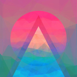 abstract colour triangles shapes