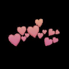 orange pink pinkheart pinkheartcrown orangeheartcrown freetoedit