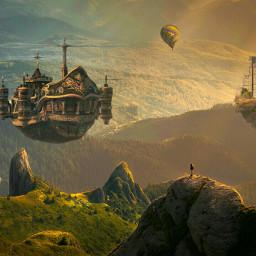 freetoedit nature mountains floats ship