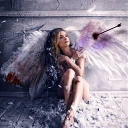 freetoedit angel wings blood tumblr arrow picsart edit artwork illustration