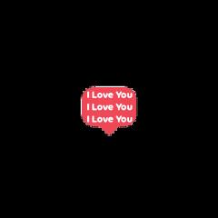 iloveyou chat bubble freetoedit