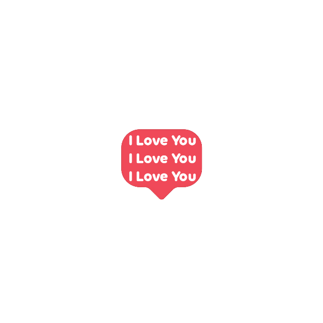 #iloveyou #chat #bubble