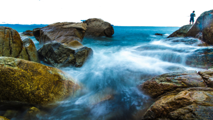 freetoedit ftestickers landscape river rocks