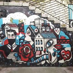 photography urbanart graffiti night moon