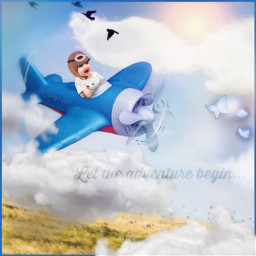baby boy adventure pilot flying