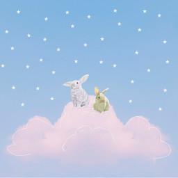 freetoedit cute kawaii bunny bunnies irccloudsandsky