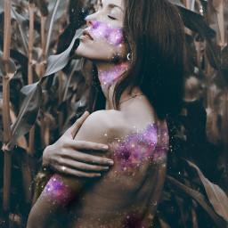 freetoedit edit magiceffect galaxymagiceffect model ecgalaxymakeup