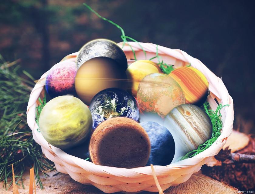 #freetoedit #basket #planets #saturn #moon #mars #surreal #easter #happyeaster #manipulation #grass #shadow #picsart #madewithpicsart