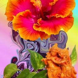 freetoedit flower cute statuette krishna