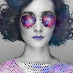 freetoedit galaxy girl makeup edit ecgalaxymakeup