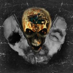 freetoedit skull skullface skullhead skullart