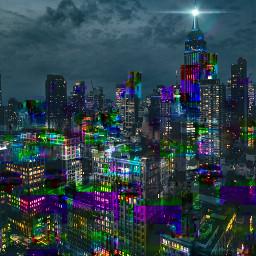 freetoedit glitchbrush lensflare picsarteffects city
