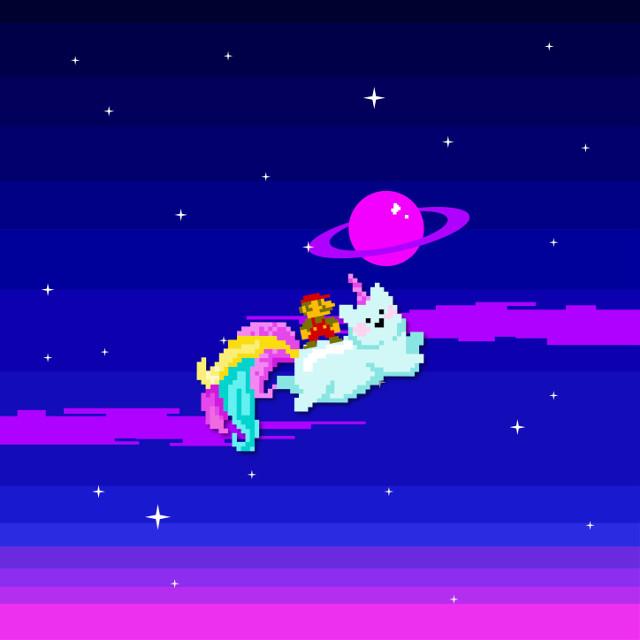 #freetoedit #mario #unicorn #color #8bit #cartoon #game #saturn #galaxy #funny #picsart #madewithpicsart