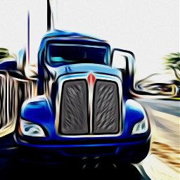 truck trucker kenworth blue transportation