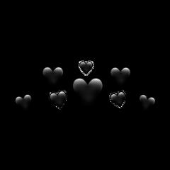 heart heartcrown black blachheart blackheartcrown freetoedit