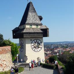 clock clocktower graz austria pcclock