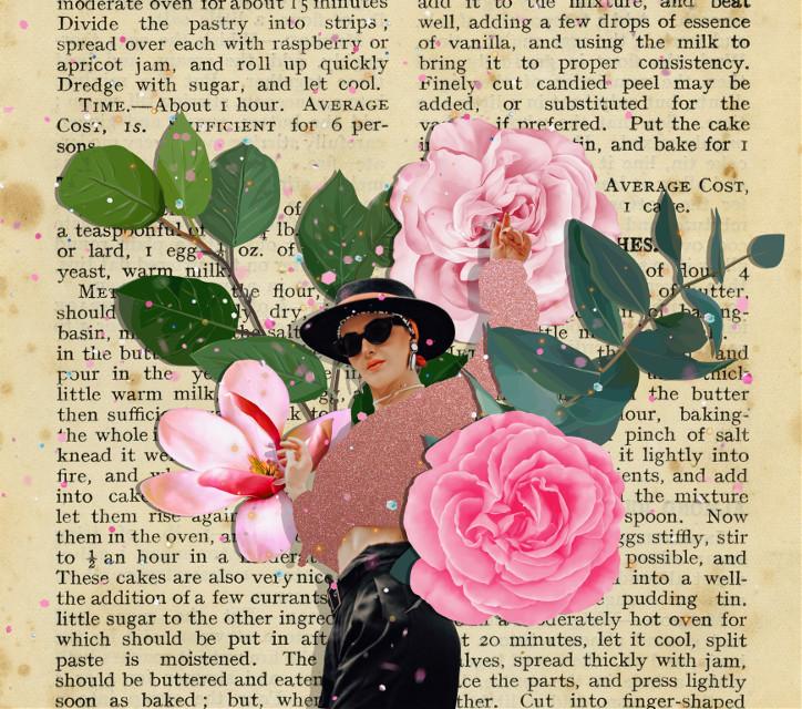 #flower #cutout #glitter #book #bookpage #papertexture #texture