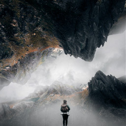 freetoedit woman nature mountain hill