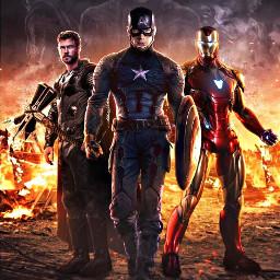 avengersendgame captainamerica steverogers thor ironman freetoedit