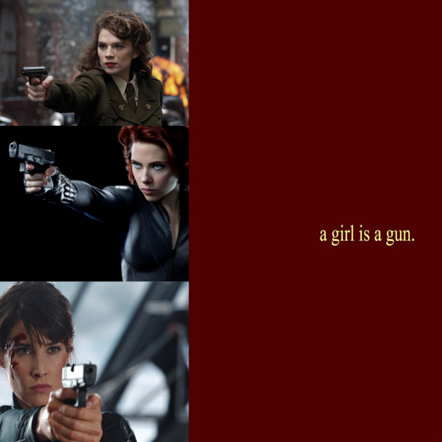 Women of the MCU:Guns #natasharomanoff #blackwidow #peggycarter #agent carter #mariahill #commanderhill #marvel #women of the mcu #freetoedit