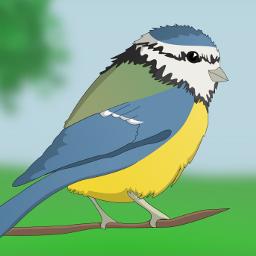 freetoedit mydrawing bird spring bluetit dcspringbirds