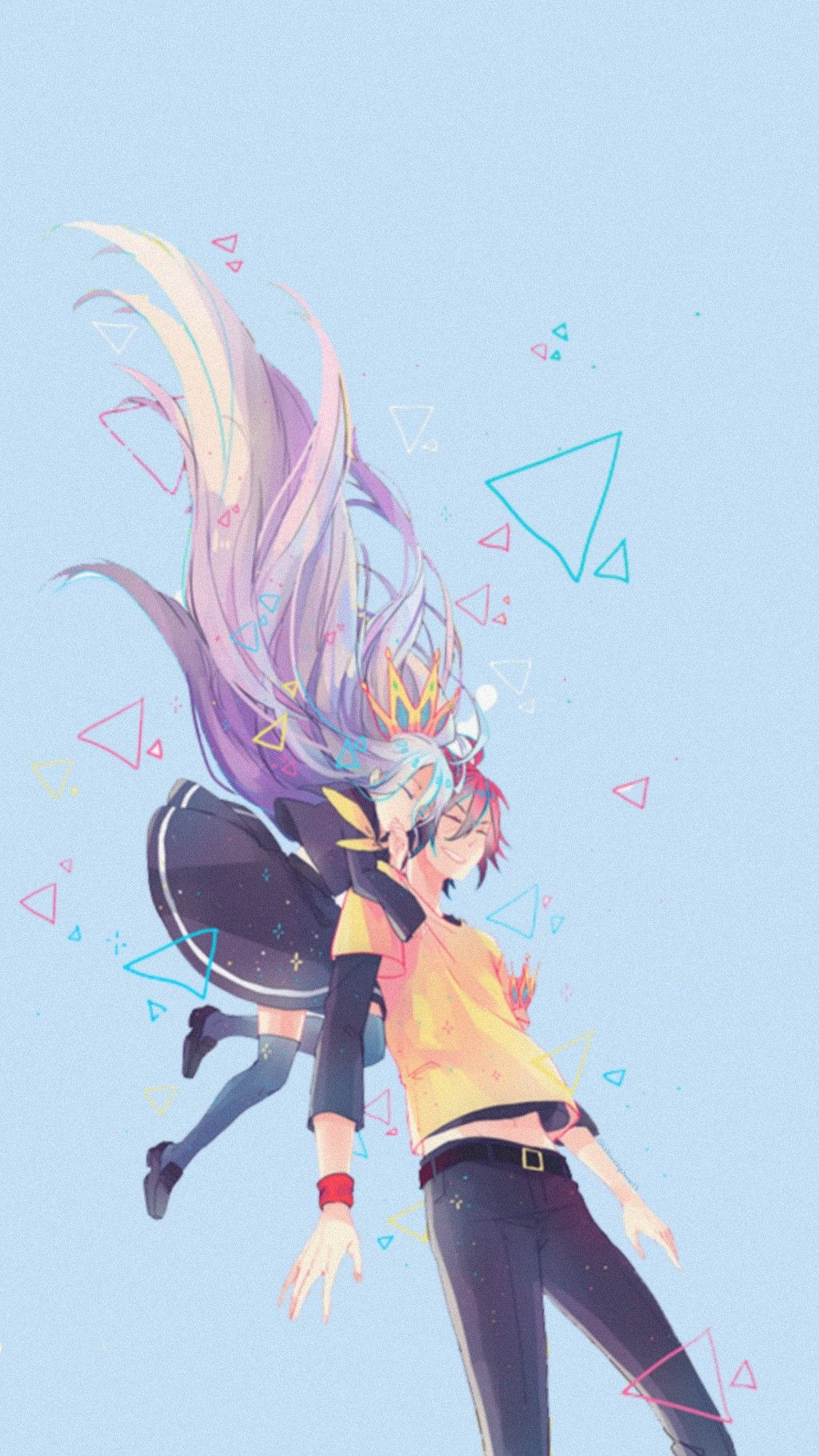 Nogamenolife Shiro Sora Anime Animewallpaper Iphonewall