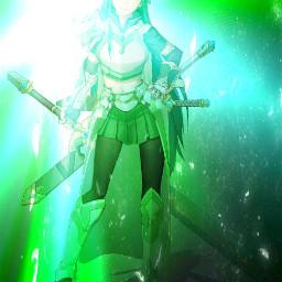 leafa sao animegirl green