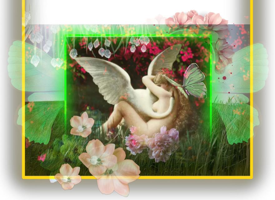 #freetoedit Leda and the Swan