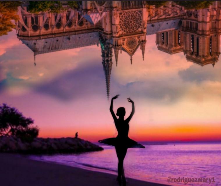 #freetoedit  #upsidedownart #upsidedownworld #fun #fotoedit #bailarina #beach #sunset #cloudsandsky #lovepicsart😙💙 #skylovers #freedom #beautifull #ecupsidedown  #notredame #france #paris