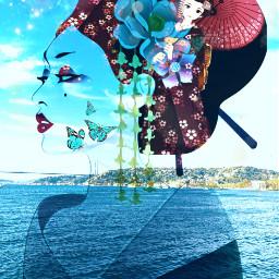 freetoedit orient geisha blueskies bluesea myeditoffreetoedit