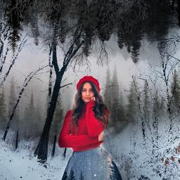 freetoedit upsidedown girlmodel winter ecupsidedown