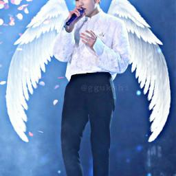 freetoedit jungkook angel wallpaper aesthetic