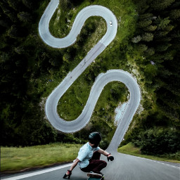 freetoedit skateboarding skateboard man road