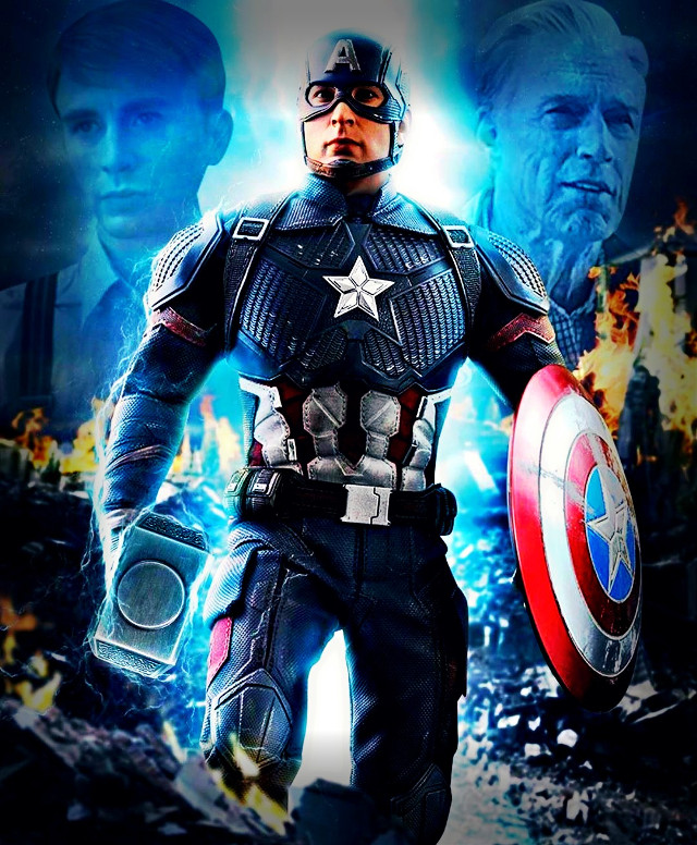 Past, Present & Future Captain America And Avengers End Game #captainamerica #steverogers #avengers #avengersendgame #mjolnir #marvelstudios #marvelcomics  #freetoedit