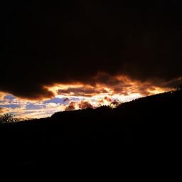 sunset sunlight darkclouds evening