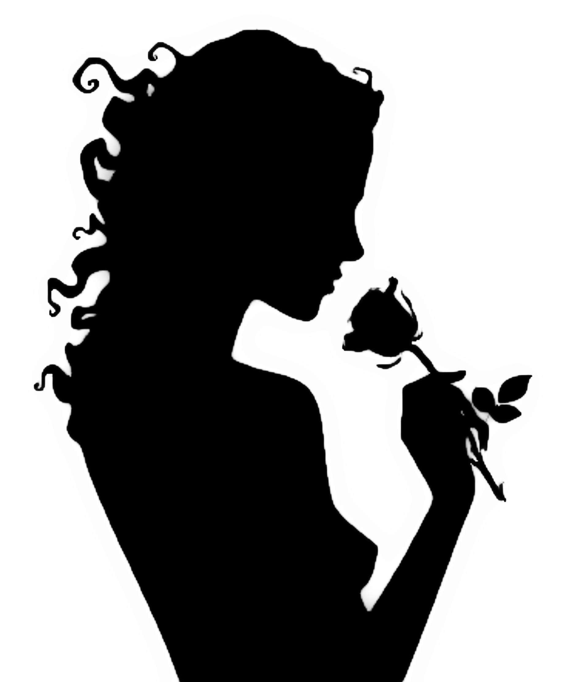 картинка силуэт нюхающего цветы нам сотворить