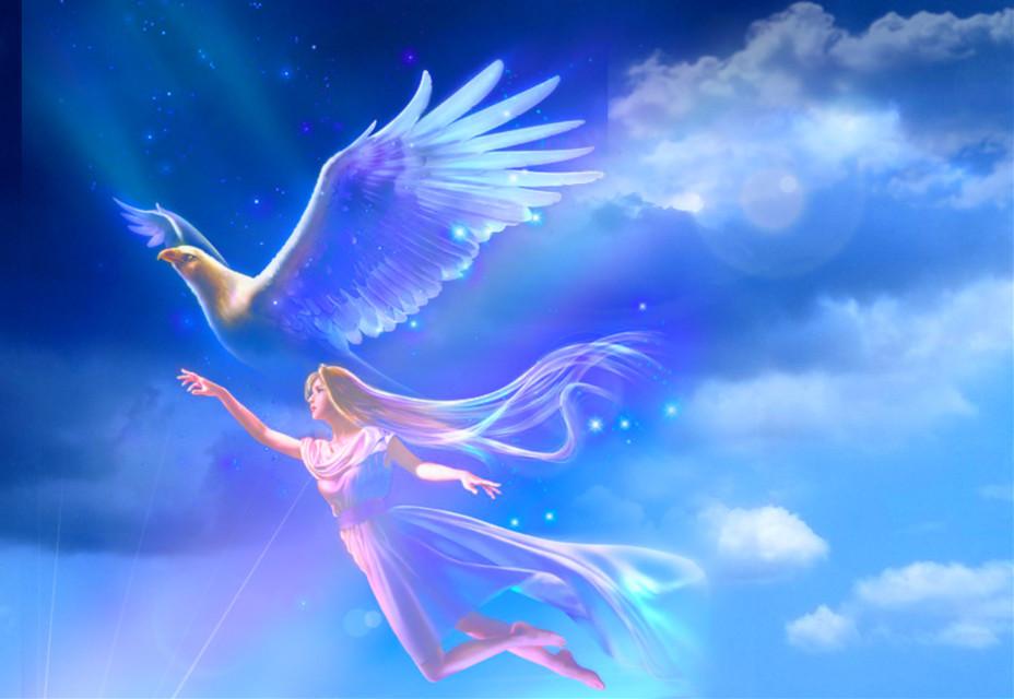 #freetoedit #fantasyart #angel #fairy #flying #cloudysky #starlight #lensflare #stickerart #adjusttools #blending #myedit #madewithpicsart