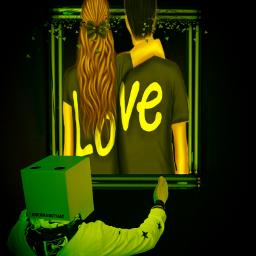 freetoedit neonart neon love remixit ircremixbox