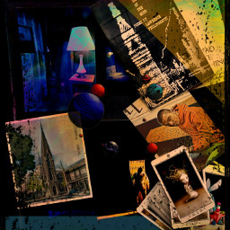 freetoedit collage collageart ferlinghetti tarot