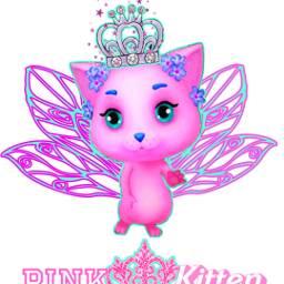 pinkkitten pink kitten animals pinktext freetoedit