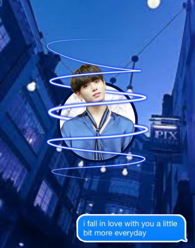 Jungkookie! 💙     #jungkook #bts #remixit #givecreditifused #useit #kookie #jk #bangtan #blue #circle #swirl
