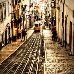 lisbon metro electrico electric street