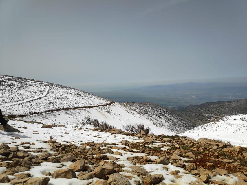 #freetoedit #snow #winter #empty #white #view #nature #wild #snowflakes #mountains #mountainview #rock #rocks #remixit